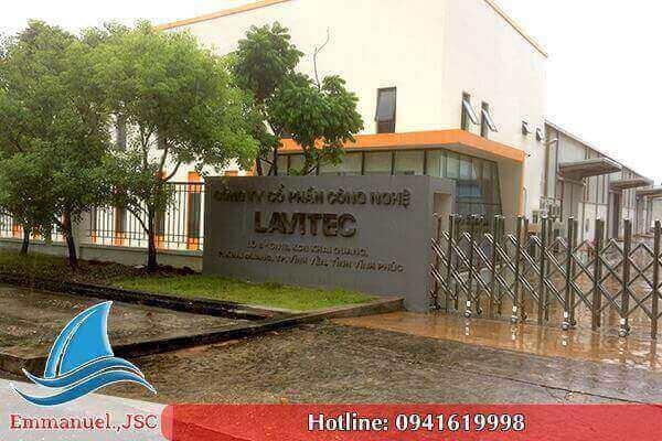 Lắp đặt hệ thống thông gió nhà xưởng cho nhà máy LAVITEC tại KCN Khai Quang - Vĩnh Phúc